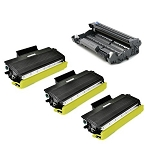 Compatible Brother 620/650-AVP [Value Pack] 1-Drum, 3 High Yield Toner Cartridges