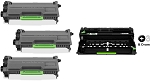 Compatible Brother 820/850-AVP [Value Pack] 1-Drum, 3 Toner Cartridges