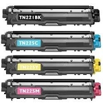 Compatible Brother TN221/225-AVP [Value Pack] B,C,M,Y Toner Cartridges