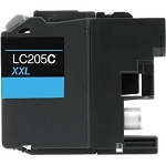 Compatible Brother© LC205C Cyan Ink Cartridge