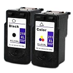 Remanufactured Canon 210XL/211XL-AVP [Value Pack] Ink Cartridges