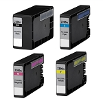 Compatible Canon 2200XL [Value Pack] B,C,M,Y Ink Cartridges