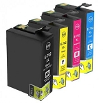 Remanufactured Epson 702XL-AVP [Value Pack] B,C,M,Y Ink Cartridges