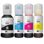 Compatible Epson T502-AVP [Value Pack] B,C,M,Y Ink Bottles