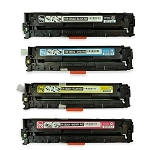 Compatible for HP 125A-AVP [Value Pack] B,C,M,Y Toner Cartridges