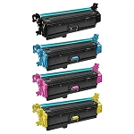 Compatible for HP 508X-AVP [Value Pack] B,C,M,Y Toner Cartridges