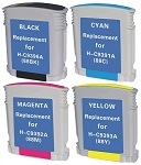 Compatible for HP 88XL-AVP [Value Pack] B,C,M,Y Ink Cartridges