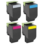 Compatible Lexmark 701-AVP [Value Pack] B,C,M,Y Toner Cartridges