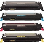 Compatible Samsung 409-AVP [Value Pack] B,C,M,Y Toner Cartridges