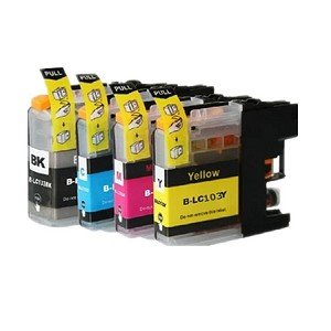 Compatible Brother LC103-AVP [Value Pack] B,C,M,Y Ink Cartridges