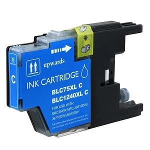 Compatible Brother© LC75XLC Cyan Ink Cartridge