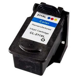 Remanufactured Canon 211XL Tri-Color Ink Cartridge