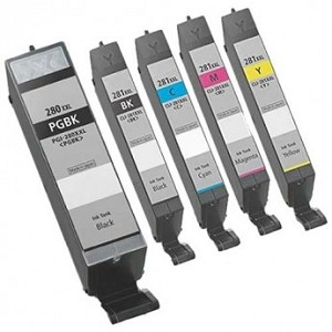 Remanufactured Canon 280XXL/281XXL-AVP [Value Pack] B,C,M,Y Ink Cartridges