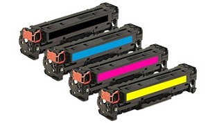 Compatible for HP 410X-AVP [Value Pack] B,C,M,Y Toner Cartridges