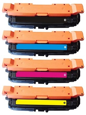Compatible for HP 650A-AVP [Value Pack] B,C,M,Y Toner Cartridges