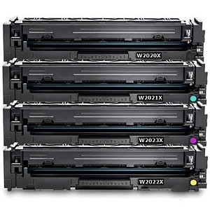 Compatible HP 414X-AVP [Value Pack] B,C,M,Y Toner Cartridges (No Chip)