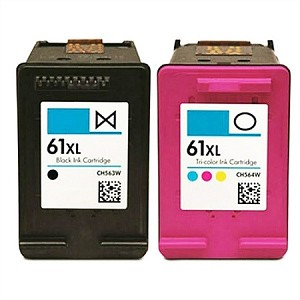 Remanufactured for HP 61XL-AVP [Value Pack] B,C,M,Y Ink Cartridges