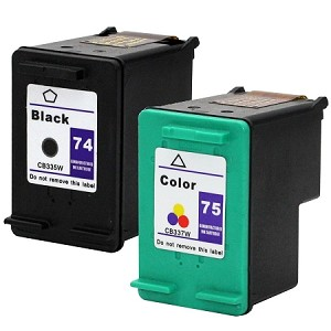 Compatible for HP 74XL/75XL-AVP [Value Pack] B,C,M,Y Ink