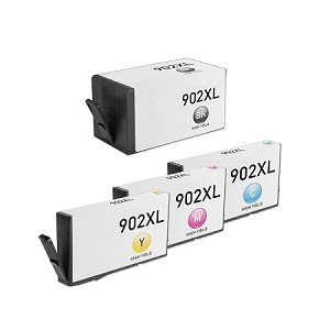 Compatible for HP 902XL-AVP [Value Pack] B,C,M,Y Ink Cartridges