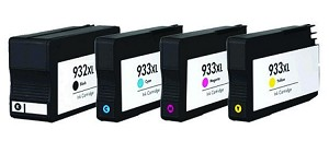 Remanufactured HP 932XL/933XL-AVP [Value Pack] B,C,M,Y Ink Cartridges