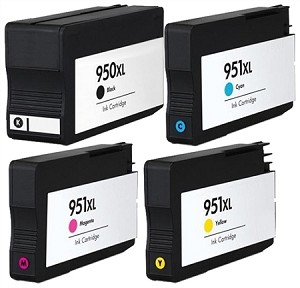 Compatible for HP 950XL/951XL-AVP [Value Pack] B,C,M,Y Ink
