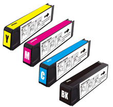 Compatible for HP 970XL/971XL-AVP [Value Pack] B,C,M,Y Ink